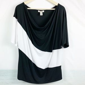 White House Black Market Black White Top Size XL